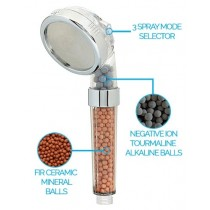 PureShowers Ionic Hand Held 3 Spray Shower Head Shower Filter
